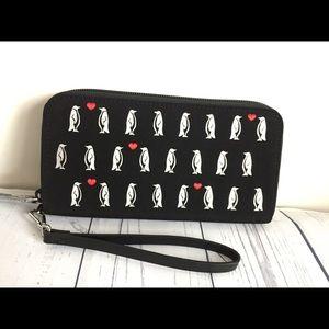 Vera Bradley penguin RFID wallet / wristlet